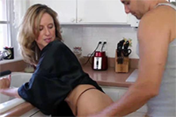Blonde Milf Gets Nailed in the Kitchen
