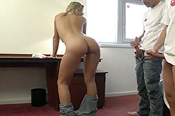 Girl fucked with pants on